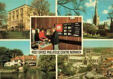 Postcard, First Day Issue, Norwich Multi View, Post Office Philatelic Centre JN5