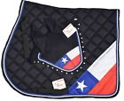 CHILE COUNTRY FLAG SADDLE PAD SET FLY VEIL HORSE EAR NET BONNET DIAMANTE