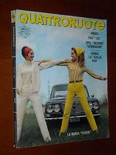 QUATTRORUOTE - 06/1967 (138) - La Nuova Flavia  Fiat 125  Opel Commodore Coupè