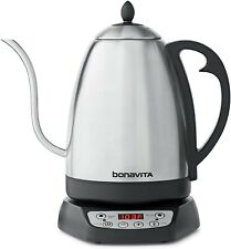 Bonavita 1.7L Variable Temperature Control Kettle, 1.7 Liters, Silver & Black