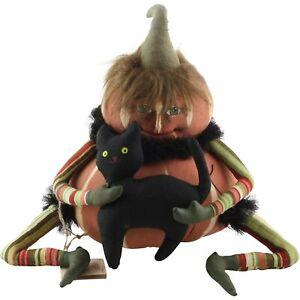 Gathered Traditions Joe Spencer Jared Pumpkin Head Halloween Doll