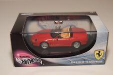 V 1:43 HOTWHEELS FERRARI 550 BARCHETTA SPIDER PININFARINA RED MINT BOXED