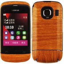 Skinomi Light Wood Phone Full Body Skin+Screen Protector Cover for Nokia C2-03