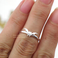 925 Sterling Silver Lovely Bat Above Knuckle Midi Mid Ring A3063