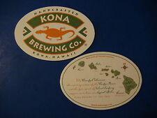 Beer Bar Coaster ~*~ KONA Brewing Company ~*~ Handcrafted in Kona, HAWAII Island