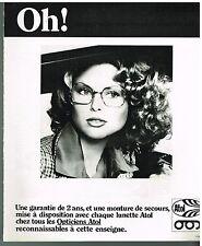 Publicité Advertising 1975 Les Lunettes Opticiens Atol
