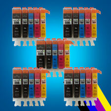25 Ink Cartridges Canon For PGI550 CLI551 MG5450 MG5550 MG6350 iP7250 MG7150 2