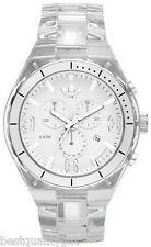 NEW ADIDAS SPECTATOR CHRONOGRAPH ACRYLIC CLEAR WATCH ADH2521