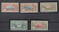 BB5663/ ICELAND – AIRMAIL – MI # 142 / 146 COMPLETE MINT MH - CV 475 $
