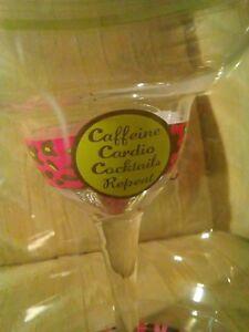 Minx Collectors Margarita Glass 12 Oz Pink Leopard Caffeine Cardio Cocktails