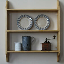 Wooden shelves painted or natural wood