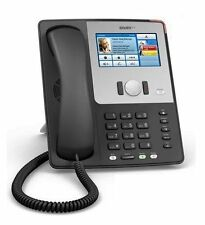 SNOM SNO-870-BK Wifi Touch Screen SIP VoIP IP Phone PoE Black w PS
