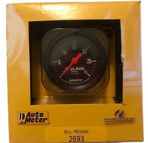 """Auto Meter 2-1/16"""" Z-Series Fuel Rail Pressure Gauge 0-30K PSI Stepper Motor"""