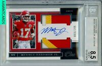2019 PANINI ONE Mecole Hardman Jr #36 JERSEY AUTO RPA RC/149 BGS 8.5 AUTO 10
