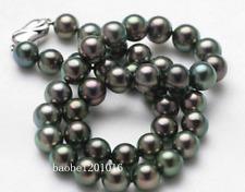 "18"" 10-11MM Tahitian Black Pearl  Necklace AAA+"