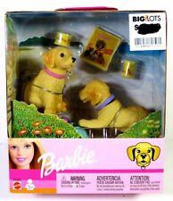 NIB BARBIE DOLL 2002 BOBBING HEADS PETS DOGS GOLDEN RETRIEVER