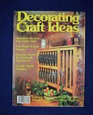 Vintage 1982 Magazine DECORATING CRAFT IDEAS October 1982