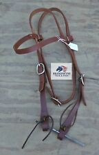 Brown leather browband headstall