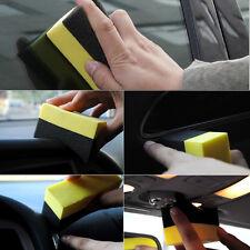 2X New Car U-Shape Tire Waxing Polished Sponge Super Applicator Curved Foam Pad