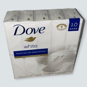 Dove Beauty Bar Soap Deep Moisture, White 3.75 oz, 10 Bars