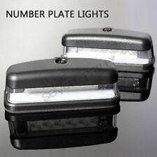 2 X LED REAR LICENSE NUMBER PLATE LIGHT LAMP TRUCK CARAVAN TRAILER 12V 24V NEW