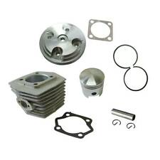 Silver CNC Cylinder Head Cover & Cylinder & Piston Fit 80cc Motorized Bicycle
