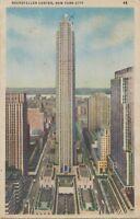 "USA ca. 1930 fine used coloured pc ""Rockefeller Center, NEW YORK CITY"""