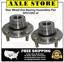 2 New Wheel Hub Bearing Assemblies 2000-2004 Volvo S40 V40 Non ABS Rear Pair