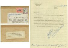 April 1949 Tonga post-Tin Can Mail from Quensell to Crocker w/letter