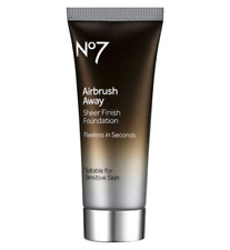 No7 Airbrush Away Sheer Finish Foundation ~ Dark
