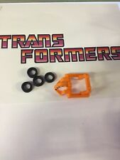 Transformers G1 Weapon HOIST Rubber Tire Wheel Set Of 4x 1984 Original Part