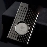 New COHIBA Stainless Steel Cigar Cutter Sharp One Blade Black Cigar Scissor Cut