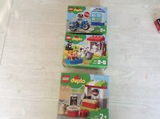 Lego Duplo Konvolut Police Bike Farm und Pizza Stand 10900 10870 10927 OvP NEU