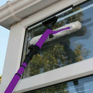 3.5M TELESCOPIC WINDOW CLEANER KIT WINDOW CLEANING EQUIPMENT SQUEEGEE SOFT HEAD