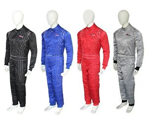 Karting Suit Race Rally Suits Cherry Shiny Fabric Suits 2 Layer Suit New
