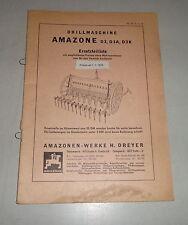 Teilekatalog Amazone Drillmachine D 3 / D3A / D3K - Stand 02/1970