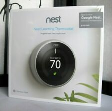 Google Nest Learning Thermostat 3rd Gen Stainless Steel T3007ES