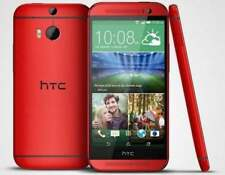 HTC M8 AT&T Unlocked 5'' Wifi 1080p Bluetooth Quad-core Smartphone In Red