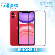For Apple iPhone 11 5D Tempered Glass Screen Protector Edge To Edge Curved Black