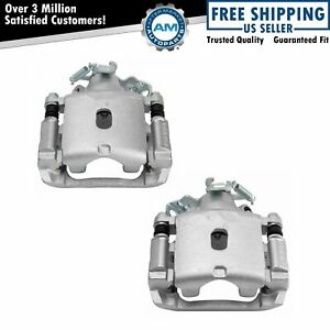 New Rear Disc Brake Caliper with Bracket & Hardware Pair for Ford Mercury