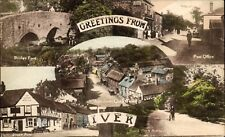 Iver. Greetings Multiview. Village at centre.