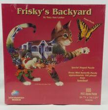 Frisky's Backyard 800 Piece Puzzle with Bonus Puzzle 2002 New Unopened Box (G4)