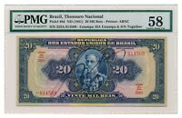 BRAZIL banknote 20 Mil Reis 1931 PMG AU 58 Choice About Uncirculated grade