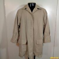 LONDON FOG Limited Edition Raincoat Trench Rain Coat Womens 14 Petite 14P Beige