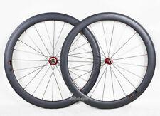 1415g 50mm Sapim Carbon Wheelset Tubular Road Bike 700C 3k Matt Rim Novatec