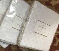 Pottery Barn Set 2 Cala Drape 44x84 White Curtains Pair Ikat