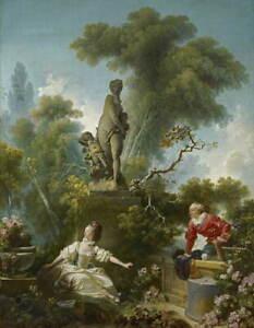 Jean Honore Fragonard Les Progr?s de l'amour Giclee Paper Print Poster