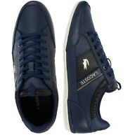 Lacoste Men Shoes Chaymon 0120 1 Leather Casual Sneakers Shoes Navy Blue