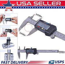 Digital Electronic LCD 6-Inch 150mm Steel Stainless Ruler Gauge Caliper