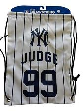Aaron Judge #99 Jersey Drawstring Backpack Bag MLB New York Yankees Baseball